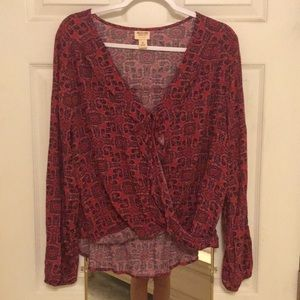 Mossimo Supply Co. Long Sleeve Maroon Shirt NWOT